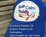 SSCA Keep Calm and Paddle on Hat Patch