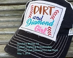 SSCA Dirt and Diamond Girl Hat Patch