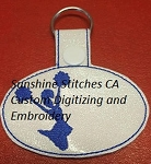 SSCA Cheer Key Fob/Snap Tab