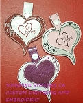SSCA 2 Layered Heart Fobs SS
