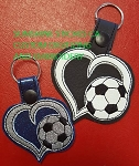 SSCA Layered Heart Soccer Ball Fob/Key Chain