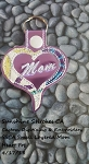 SSCA Small Layered Heart Mom Fob