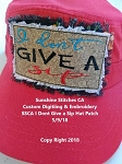 SSCA Dont Give a Sip Hat Patch
