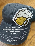 SSCA Beer Mug Hat Patch