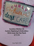 SSCA Curly Hair Hat Patch