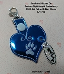 SSCA Cat Fob with Fish Charm