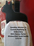 SSCA Boston Terrier Kitchen/Dish Towel Holder