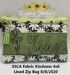 SSCA  Fabric Kindness 4x6 Zipper Bag ( ITH LINED)