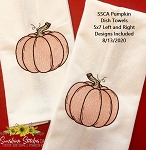 SSCA Pumpkin 5x7 Dish Towel Design