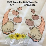 SSCA Pumpkin Gnome Towel Set