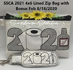 SSCA  2021 4x6 Zipper Bag ( ITH LINED) with bonus fob