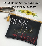 SSCA  Home School 5x6 Zipper Bag ( ITH LINED)