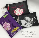 SSCA Mask Bags 4x6 Zipper Bag (2 Designs ITH LINED)