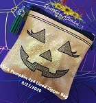 SSCA Pumpkin Bag 4x4 Lined Zipper Bag