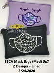 SSCA Face Mask Bags (2) 5x7