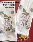 SSCA Perfectly Wicked 5x7 Dish Towel Design