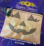 SSCA Pumpkin Bag 5x6 Lined Zipper Bags