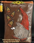 SSCA  Candy Corn Gnome 5x7 Zipper Bag ( ITH LINED)