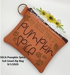 SSCA  Pumpkin Spice 5x6 Zipper Bag ( ITH LINED)