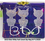 SSCA Boo Kitty 5x6 Lined Zipper Bag