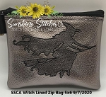 SSCA Witch 5x6 Zipper Bag ( ITH LINED)
