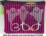 SSCA Boo Ghosties 5x6 Lined Zipper Bag
