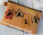 SSCA  Fall Leaves Zipper Bag 5x7 ( ITH LINED)