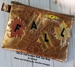 SSCA  Fall Leaves Zipper Bag 6x8 ( ITH LINED)