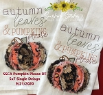 SSCA Pumpkin Please Dishtowel 5x7