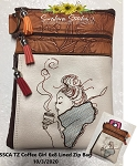 SSCA TZ 6x8 Coffee Girl Zipper Bag