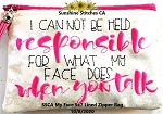 SSCA  My Face 5x7 Lined Zipper Bag