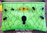 SSCA  5x7 Spider Zipper Bag ( ITH LINED)