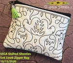 SSCA Ghosties Quilted 5x6 Zipper Bag