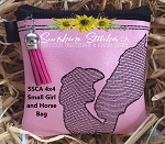 SSCA 4x4 Small Girl and Horse Lined Zipper Bag