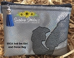 SSCA 5x6 Small Girl and Horse Lined Zipper Bag