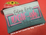 SSCA Ish 5x7 Lined Zipper Bag