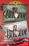 SSCA  Christmas Believe 5x7 Lined Zipper Bag