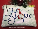 SSCA  Hope Gnome 5x7 Lined Zipper Bag