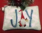 SSCA  Joy Gnome 5x7 Lined Zipper Bag