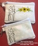 SSCA Small Deer Bag Set 3x4 & 3.25x4.5   2 Sized   Coin Purse and Credit Card Holder