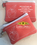 SSCA Small Apple Bag Set 3x4 & 3.25x4.5   2 Sized   Coin Purse and Credit Card Holder