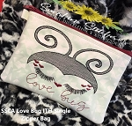 SSCA Love Bug 5x7 Lined ITH Single Zipper Bag