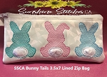 SSCA Bunny Tails Collection  3.5x7 Lined Zip Bag
