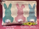 SSCA Bunny Tails  5x7 Lined Zip Bag