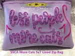 SSCA More Cats 5x7 Lined Zip Bag