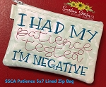 SSCA Patience 5x7 Lined Zip Bag