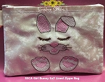SSCA  Girl Bunny 5x7 Lined Zipper Bag