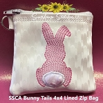 SSCA Bunny Tails Collection  4x4 Lined Zip Bag