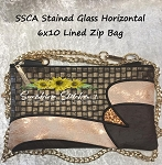 SSCA Stained Glass Horizontal 6x10 Zipper Bag