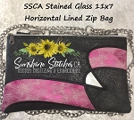 SSCA Stained Glass Horizontal 11x7 Zipper Bag